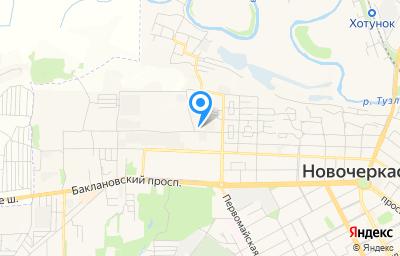 Местоположение на карте пункта техосмотра по адресу Ростовская обл, г Новочеркасск, ул Добролюбова, д 172А