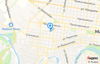 Местоположение на карте пункта техосмотра по адресу г Майкоп, ул 12 Марта, д 9