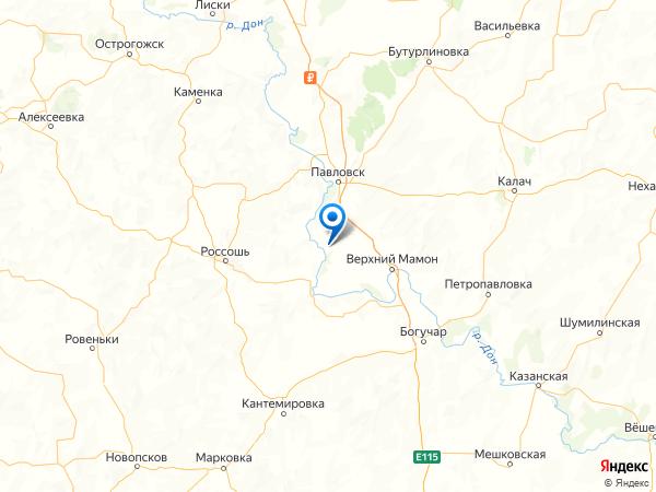 село Большая Казинка на карте