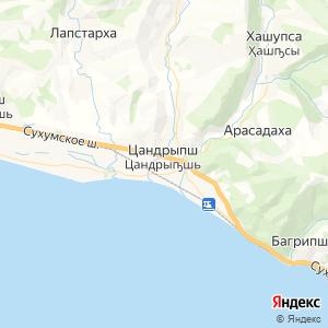 Карта города Цандрипша