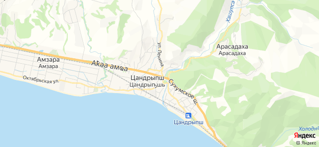 Цандрипш - объекты на карте