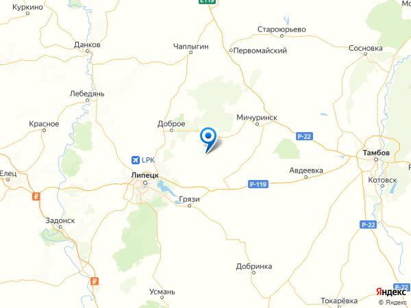 урочище Ильино на карте