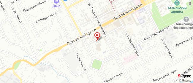 Карта расположения пункта доставки Халва в городе Новочеркасск