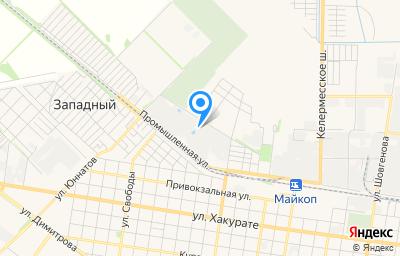 Местоположение на карте пункта техосмотра по адресу г Майкоп, пер Авиационный, д 15А