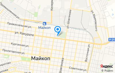 Местоположение на карте пункта техосмотра по адресу г Майкоп, ул Кубанская, д 223