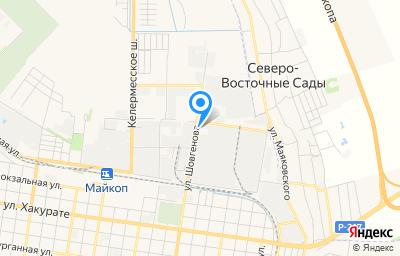 Местоположение на карте пункта техосмотра по адресу г Майкоп, ул Шовгенова, д 354А