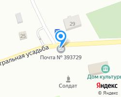 Схема местоположения почтового отделения 393729