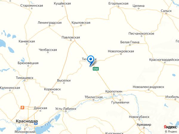 хутор Школьный на карте