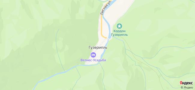 Базы отдыха Гузерипля - объекты на карте