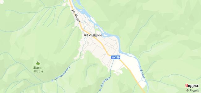 Хамышки - объекты на карте