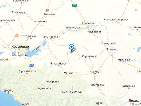 хутор Михайлов на карте