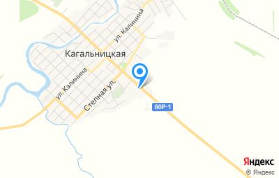 Местоположение на карте пункта техосмотра по адресу Ростовская обл, ст-ца Кагальницкая, пер Кольцовский, д 82