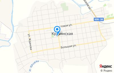Местоположение на карте пункта техосмотра по адресу Ростовская обл, Октябрьский р-н, ст-ца Кривянская, ул Кооперативная, зд 90А