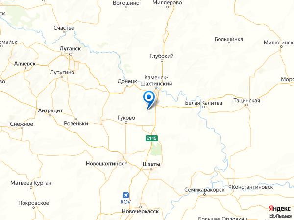 микрорайон Лиховской на карте