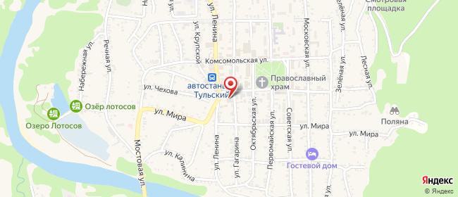 Карта расположения пункта доставки На Школьной в городе Тульский