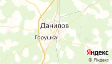 Отели города Данилов на карте