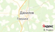 Гостиницы города Данилов на карте