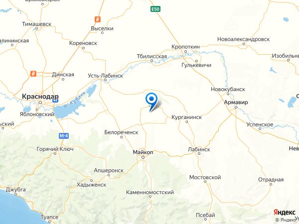 хутор Гавриловский на карте