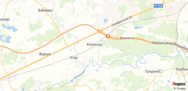 Колокша на карте