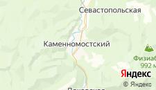 Гостиницы города Каменномостский на карте