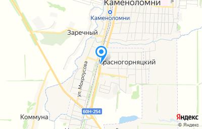 Местоположение на карте пункта техосмотра по адресу Ростовская обл, Октябрьский р-н, п Красногорняцкий, ул Центральная, влд 19