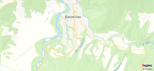 Даховская - объекты на карте