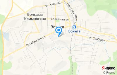 Местоположение на карте пункта техосмотра по адресу Вологодская обл, рп Вожега, ул Октябрьская, д 42А