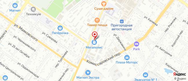 Карта расположения пункта доставки СИТИЛИНК в городе Шахты