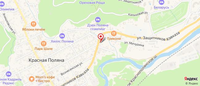 Карта расположения пункта доставки Пункт выдачи заказов в городе Красная Поляна