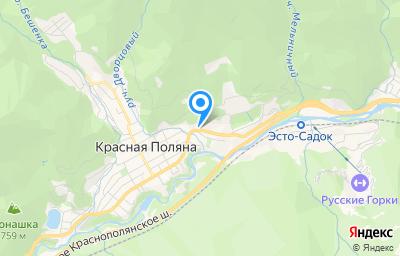 Местоположение на карте пункта техосмотра по адресу Краснодарский край, г Сочи, пгт Красная Поляна, ул Защитников Кавказа, д 65