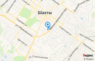 Местоположение на карте пункта техосмотра по адресу Ростовская обл, г Шахты, пер Комиссаровский, д 143И