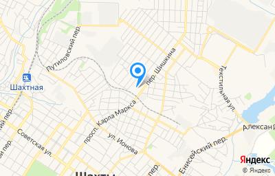 Местоположение на карте пункта техосмотра по адресу Ростовская обл, г Шахты, пер Шишкина, д 162