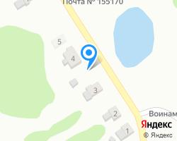 Схема местоположения почтового отделения 155170