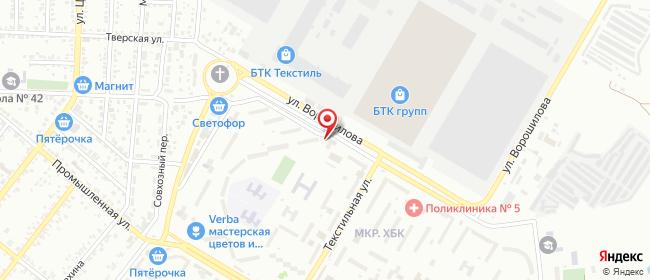 Карта расположения пункта доставки Халва в городе Шахты