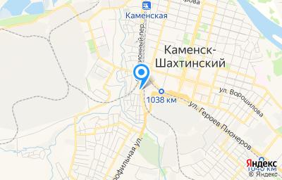 Местоположение на карте пункта техосмотра по адресу Ростовская обл, г Каменск-Шахтинский, ул Профильная, д 5