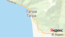 Отели города Гагра на карте