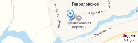 Гавриловская средняя общеобразовательная школа на карте Гавриловского