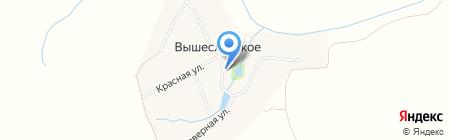 Церковь Воздвижения Креста Господня на карте Гавриловского