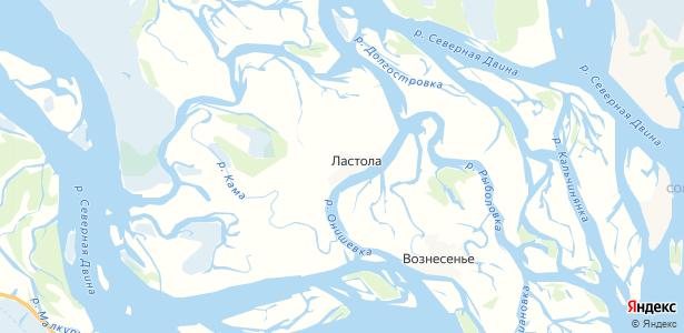 Ластола на карте