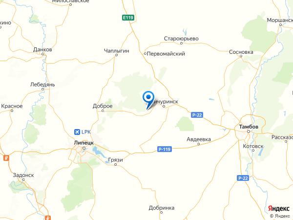 село Малое Лаврово на карте