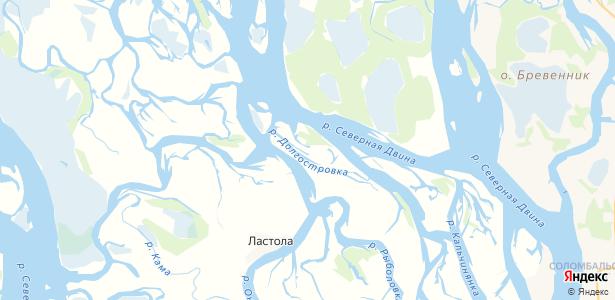 Долгое на карте