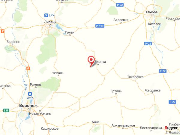 деревня Панино-Липецкое на карте