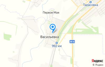 Местоположение на карте пункта техосмотра по адресу Ростовская обл, Тарасовский р-н, х Васильевка, ул Придорожная, д 8