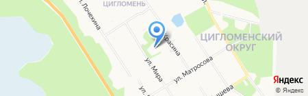 Архангельская городская больница №12 на карте Архангельска