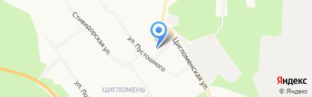 Продовольственный магазин на ул. Пустошного на карте Архангельска