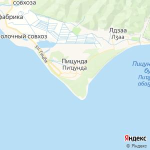 Карта города Пицунды