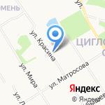 Мандарин на карте Архангельска