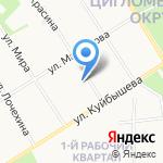 Взрослая поликлиника на карте Архангельска
