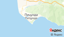 Отели города Пицунда на карте