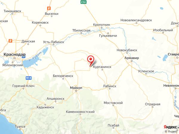хутор Красный Фарс на карте